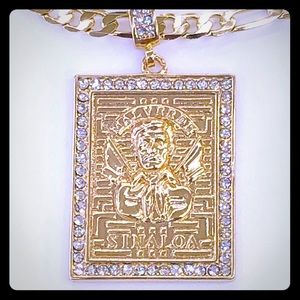 Other - Malverde pendant with chain Gold Plated